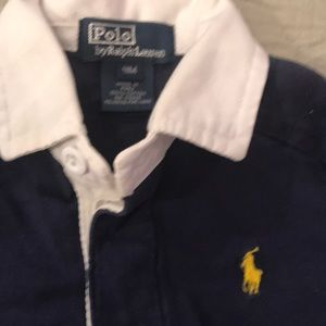 Ralph Lauren boy's long sleeve polo 9 M